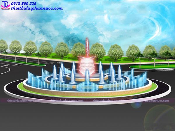 Mẫu đài phun nước 3D 30