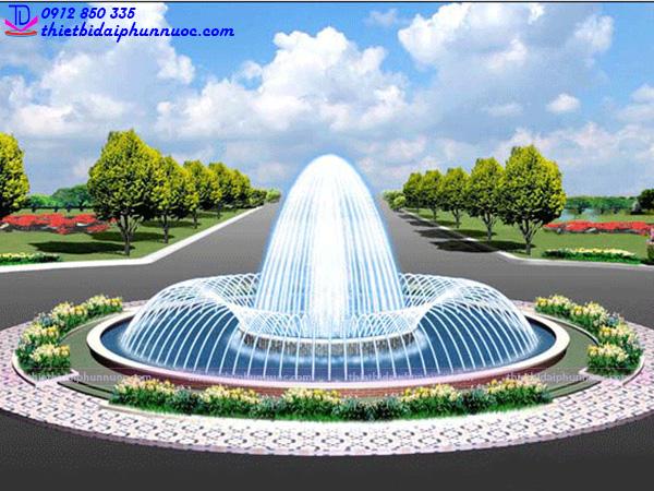 Mẫu đài phun nước 3D 31