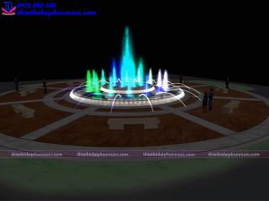 Mẫu đài phun nước 3D 35
