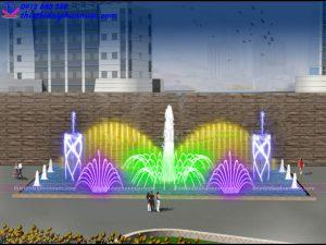 Mẫu đài phun nước 3D 43