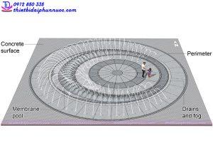 Mẫu đài phun nước 3D 9