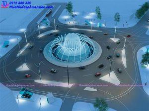 Mẫu đài phun nước hồ hình tròn 2