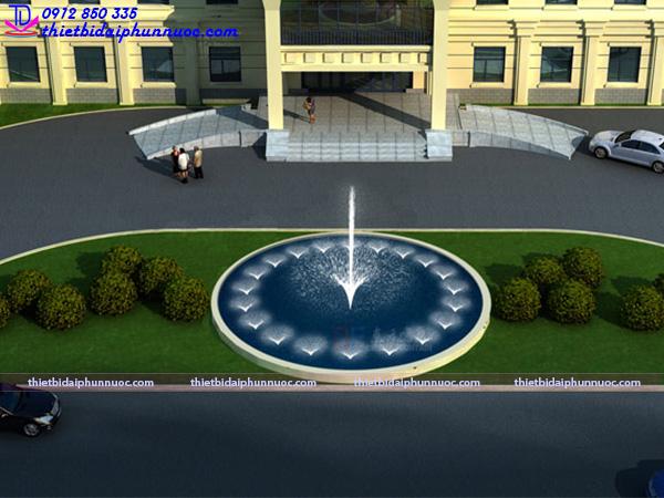 Mẫu đài phun nước hồ hình tròn 20