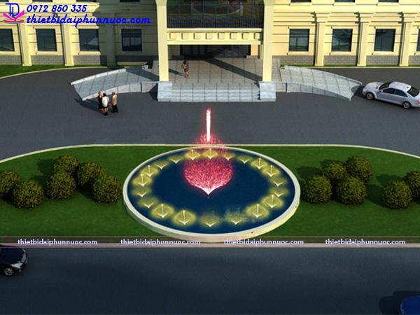 Mẫu đài phun nước hồ hình tròn 21
