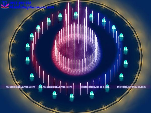 Mẫu đài phun nước hồ hình tròn 23