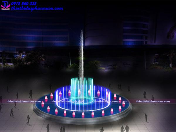 Mẫu đài phun nước hồ hình tròn 28