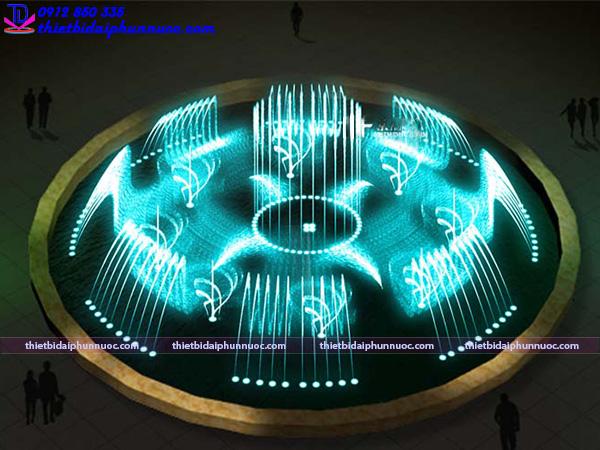 Mẫu đài phun nước hồ hình tròn 32
