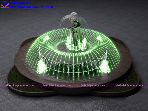 Mẫu đài phun nước hồ hình tròn 9