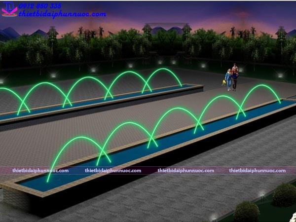 Mẫu đài phun nước lắp vòi phun Jumping 2