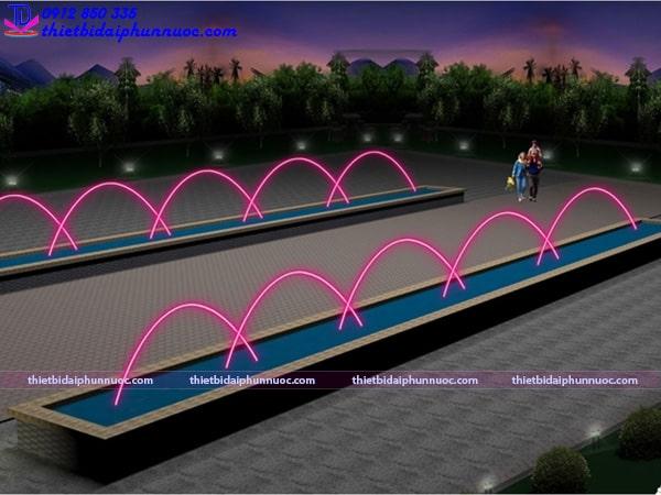 Mẫu đài phun nước lắp vòi phun Jumping 3