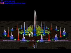 Mẫu đài phun nước D30m 2