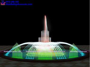 Mẫu đài phun nước bể tròn D10m 1