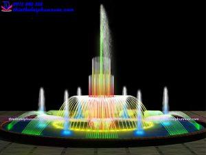 Mẫu đài phun nước bể tròn D10m 13