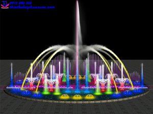 Mẫu đài phun nước bể tròn D10m 4