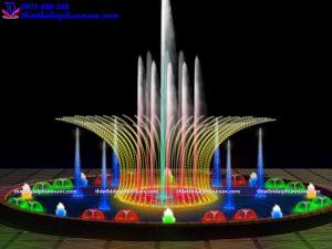 Mẫu đài phun nước bể tròn D10m 5
