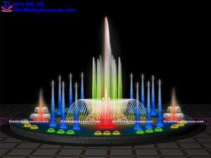 Mẫu đài phun nước bể tròn D10m 6