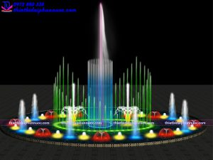 Mẫu đài phun nước bể tròn D10m