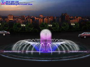 Mẫu đài phun nước vòng xuyến D16m 2