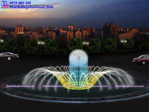 Mẫu đài phun nước vòng xuyến D16m 3