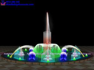 Mẫu đài phun nước nghệ thuật D18m 1