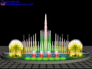 Mẫu đài phun nước nghệ thuật D18m 3