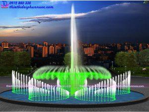 Mẫu đài phun nước tròn D25m 2