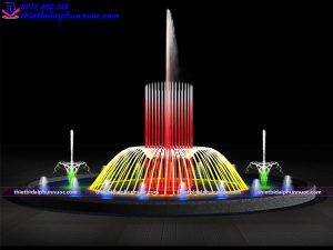 Mẫu đài phun nước lập trình D8m 1