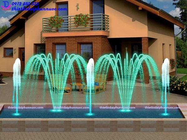 Mẫu đài phun nước hình chữ nhật 5