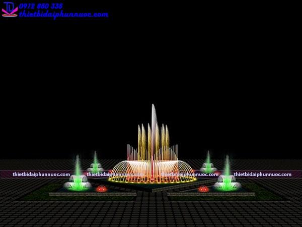 Mẫu đài phun nước bể đa giác 1