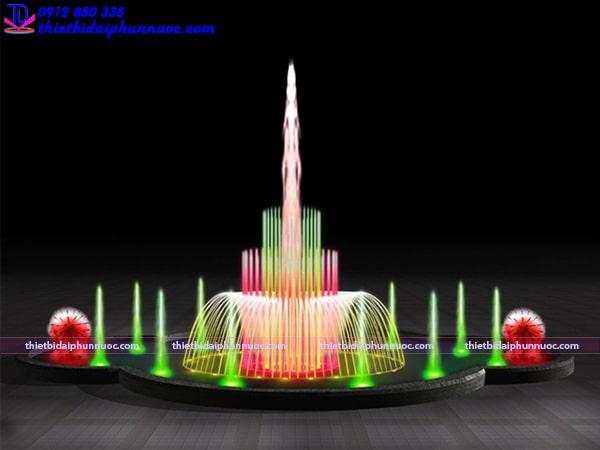 Mẫu đài phun nước bể đa giác 3