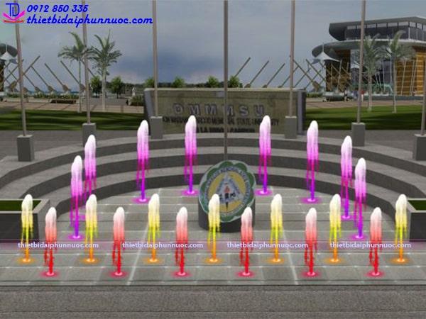Mẫu đài phun nước bể đa giác 4