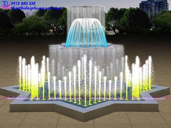 Mẫu đài phun nước bể đa giác 5