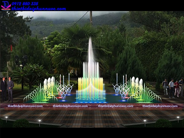 Mẫu đài phun nước hình vuông 3