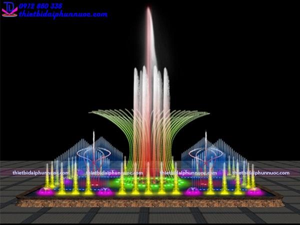 Mẫu đài phun nước hình vuông 4