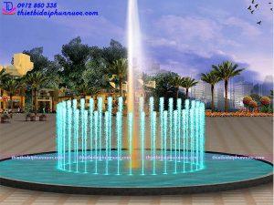 Mẫu đài phun nước bể tròn lập trình 1