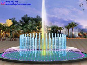 Mẫu đài phun nước bể tròn lập trình 5