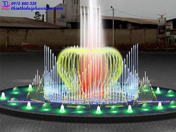 Mẫu đài phun nước bể tròn lập trình 6