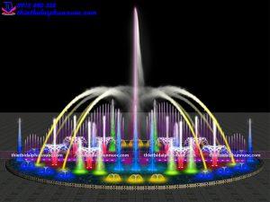 Mẫu đài phun nước theo nhạc D15m 1