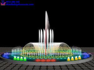 Mẫu đài phun nước theo nhạc D15m 2