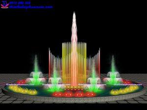 Mẫu đài phun nước theo nhạc D15m 3