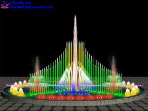 Mẫu đài phun nước theo nhạc D15m 4