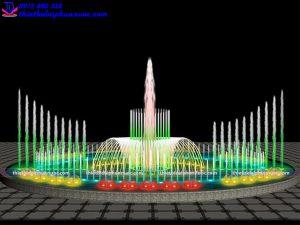Mẫu đài phun nước theo nhạc D15m 5