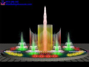 Mẫu đài phun nước theo nhạc D15m 6