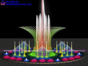 Mẫu đài phun nước theo nhạc D15m 7