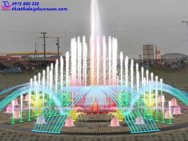Sân phun nước nghệ thuật D26m 7