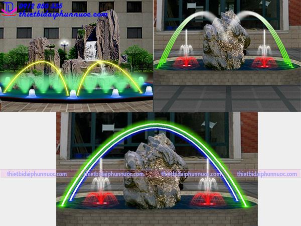 Mẫu đài phun nước lắp vòi phun Jumping 4