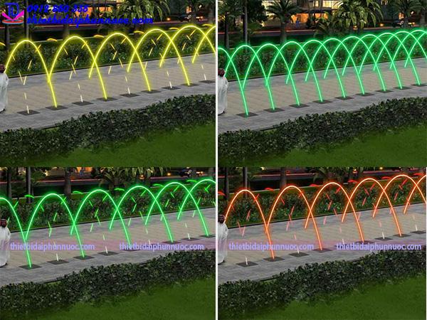 Mẫu đài phun nước lắp vòi phun Jumping 6