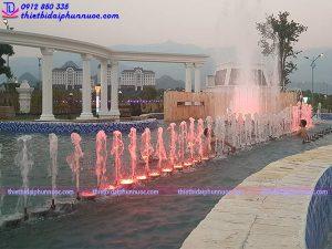 Thi công nhạc nước khách sạn Hoàng Nhâm 1