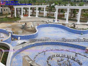 Thi công nhạc nước khách sạn Hoàng Nhâm 14
