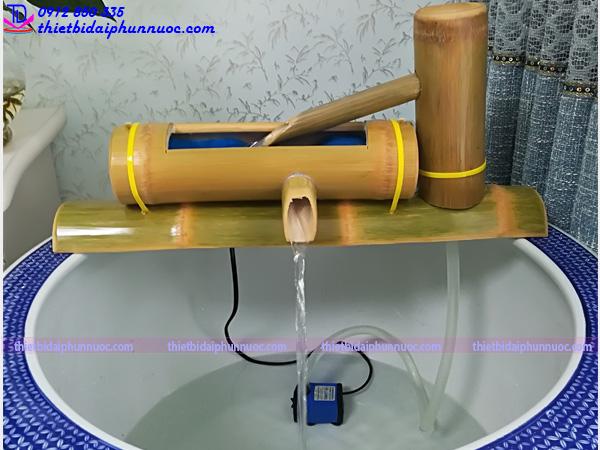 Cách làm đài phun nước bằng tre 1